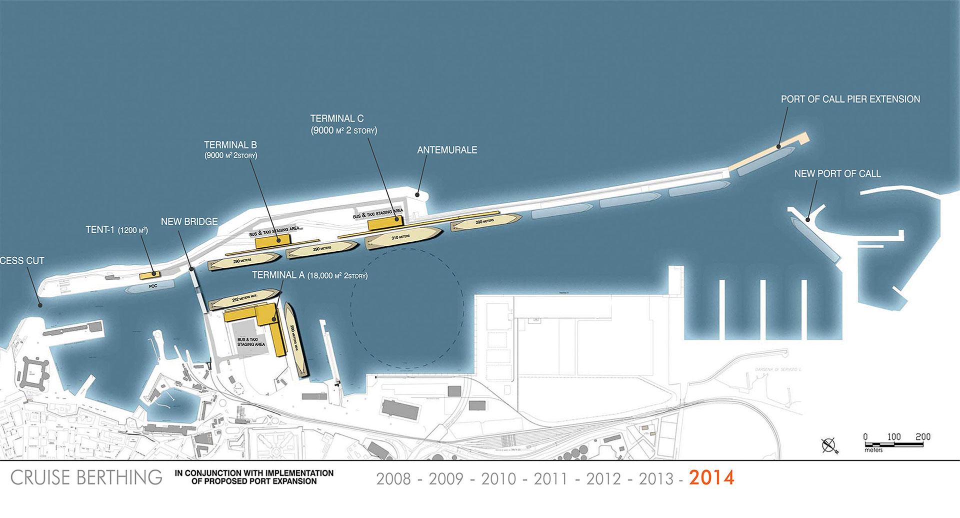 Port of rome cruise terminal bea architects - Port of civitavecchia cruise terminal ...